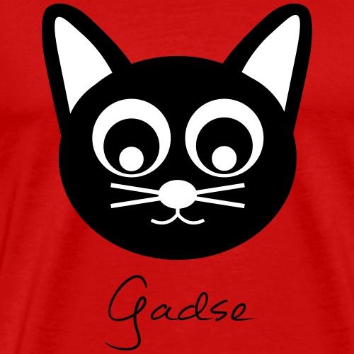 Gadse (schwarzer Print) - Männer Premium T-Shirt