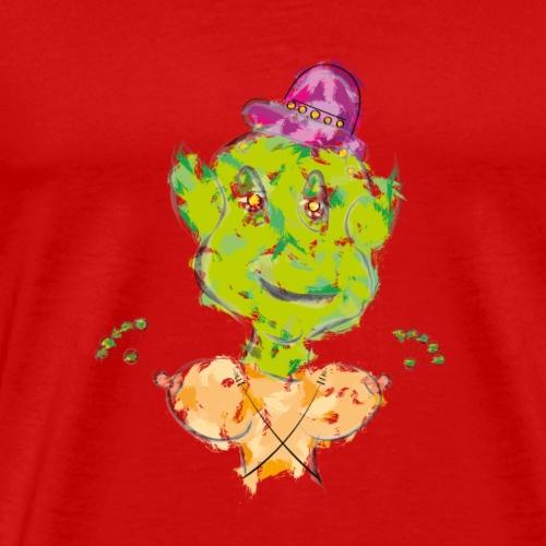 Crazy Alien - Mannen Premium T-shirt