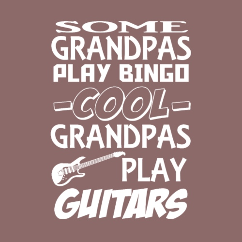 Some grandpas play bingo,cool grandpas play guitar - Men's Premium T-Shirt