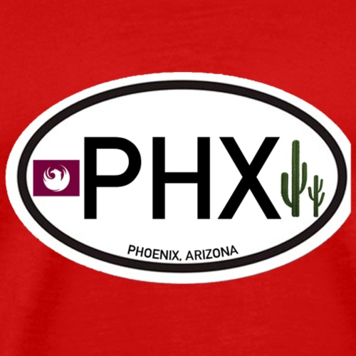 Stadt Phoenix Aufkleber KFZ - Männer Premium T-Shirt