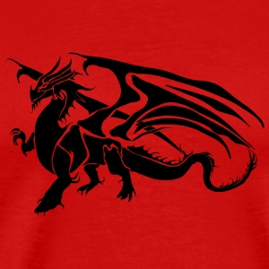 Black Dragon - TribalDragon - Premium T-skjorte for menn