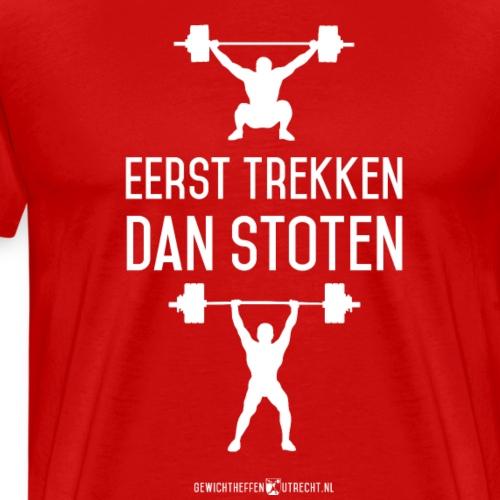 Gewichtheffen Utrecht Trekken Stoten Shirt - Mannen Premium T-shirt