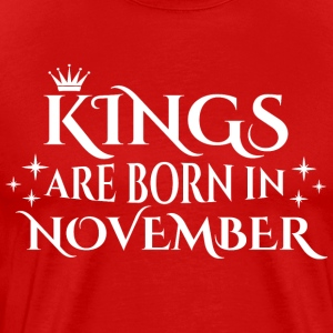Kings er født i november - Herre premium T-shirt