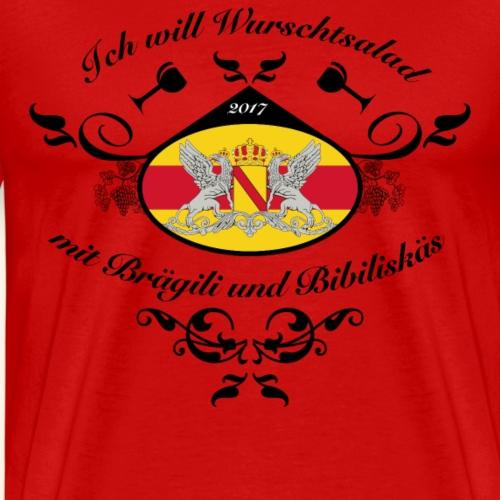 Wurschtsalad mit Brägili und Bibiliskäs - Männer Premium T-Shirt