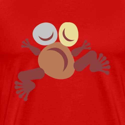 Frog Brown Totem - T-shirt Premium Homme
