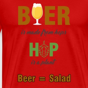 Bier - Beer is made from hops... - Männer Premium T-Shirt
