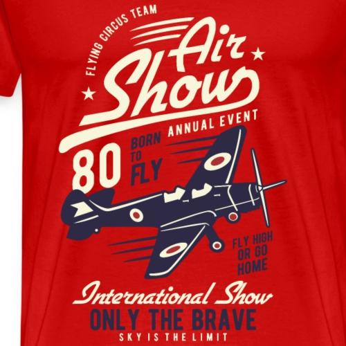 Air Show Airplane - Männer Premium T-Shirt