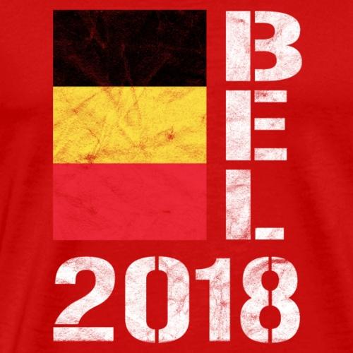 BELGIEN 2018 T-Shirt BEL 2018 Fussball Fan - Männer Premium T-Shirt