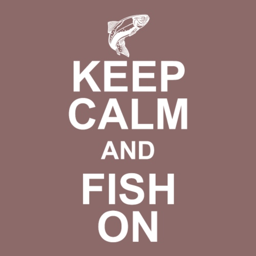 Keep calm and fish on - Men's Premium T-Shirt