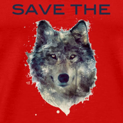 save_the_wolf - Premium T-skjorte for menn
