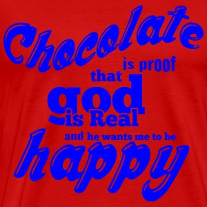 CHOCOLATE IS PROOF blue - Men's Premium T-Shirt