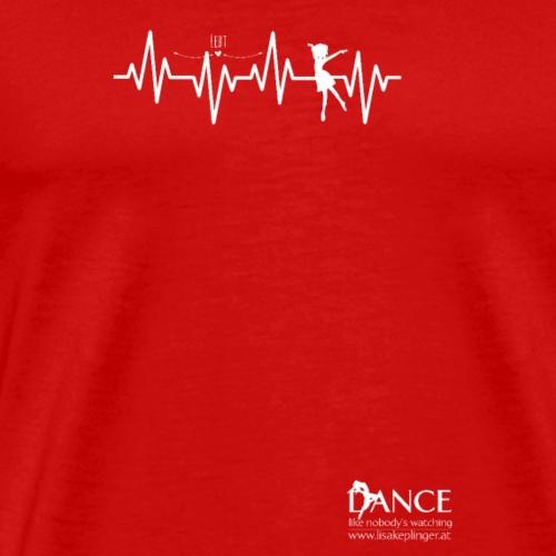 Dein Herz schlägt für das Tanzen - Logo Dance - Männer Premium T-Shirt