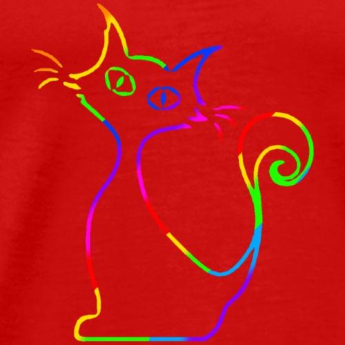 curious cat - Männer Premium T-Shirt