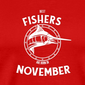 Present for fishers born in November - Men's Premium T-Shirt