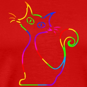 curious cat - Männer Premium T-Shirt