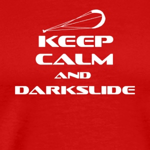 KITESURFING - KEEP CALM AND DARKSLIDE - Men's Premium T-Shirt