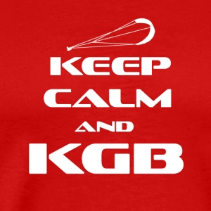 KITESURFING - KEEP CALM AND KGB - Men's Premium T-Shirt