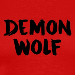 Demon Wolf Text Design Black - Men's Premium T-Shirt