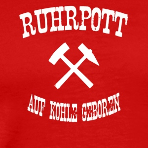born ruhrpott on coal - Men's Premium T-Shirt