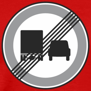 Road Sign truck and car restriction - Men's Premium T-Shirt