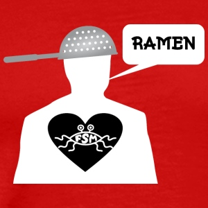 Ramen Pastafarian in heart white - Men's Premium T-Shirt