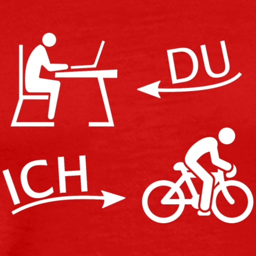 DU und ICH: Fahrrad statt Büro (weiß) - Männer Premium T-Shirt