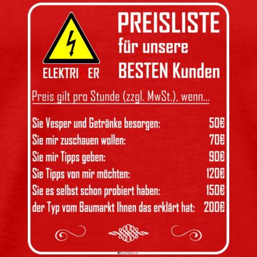 ElektriXer Preisliste (weiß) V2 - Männer Premium T-Shirt