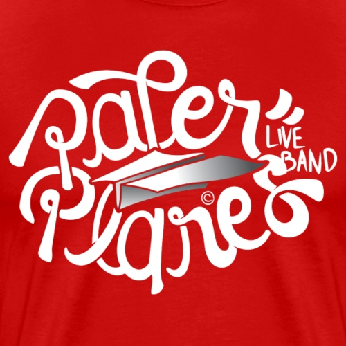 Paper Planes Logo Wit - Mannen Premium T-shirt