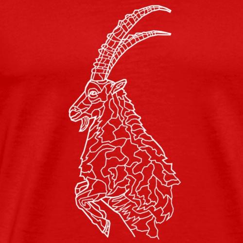 Steinbock weiß - Männer Premium T-Shirt