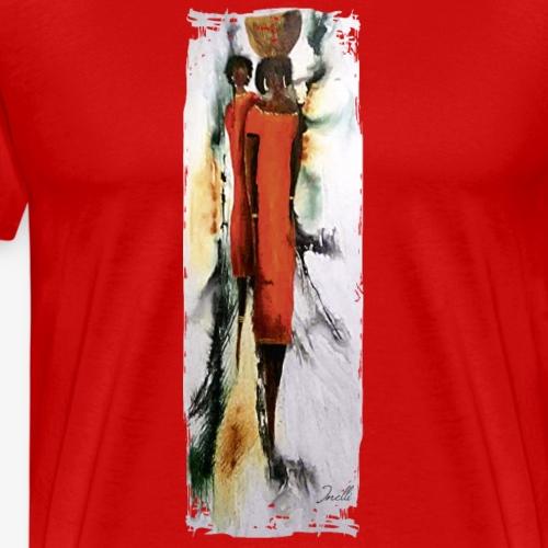 afrikanische Wassertägerin - Männer Premium T-Shirt