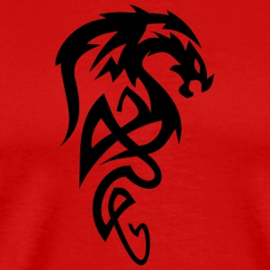 Evil Tribal draak / dragon head voor Dragon fans - Mannen Premium T-shirt