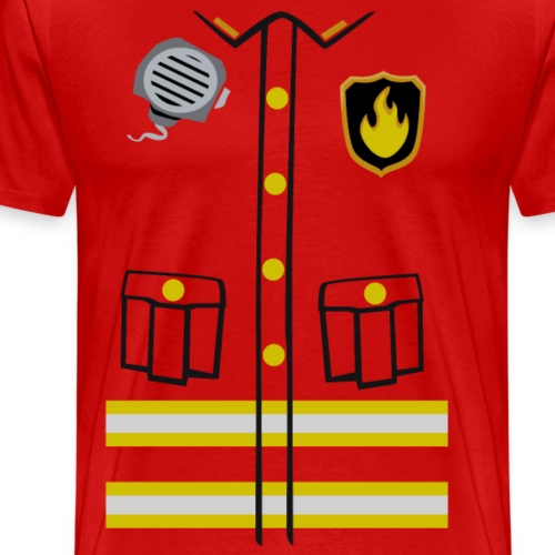 Firefighter Costume - Men's Premium T-Shirt
