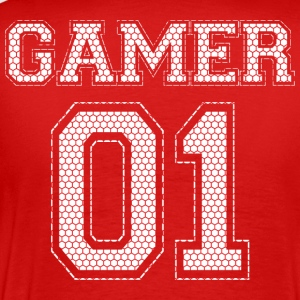 GAMER 01 - Rød Edition - Herre premium T-shirt