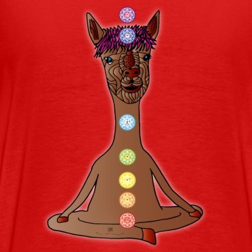 Alpaka beim Yoga - Männer Premium T-Shirt