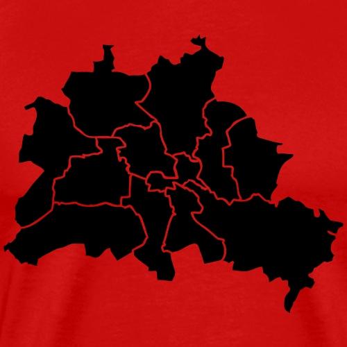 Berlinkarte, Stadtviertel, Stadtteile - Männer Premium T-Shirt