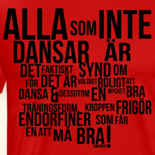 AllaSomINTE - Premium-T-shirt herr