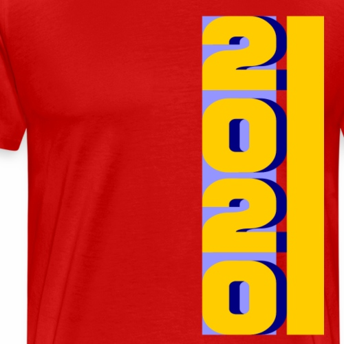 2020, vertical yellow blue - Men's Premium T-Shirt