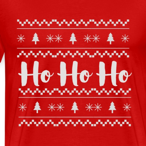 HO HO HO Babbo Natale, Ugly Christmas sweater - Maglietta Premium da uomo