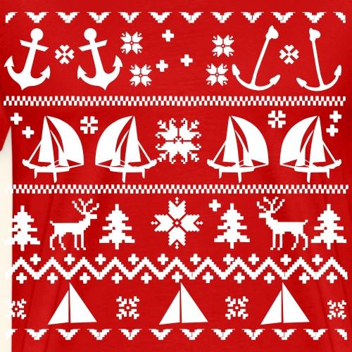 xmas Sailing - Männer Premium T-Shirt