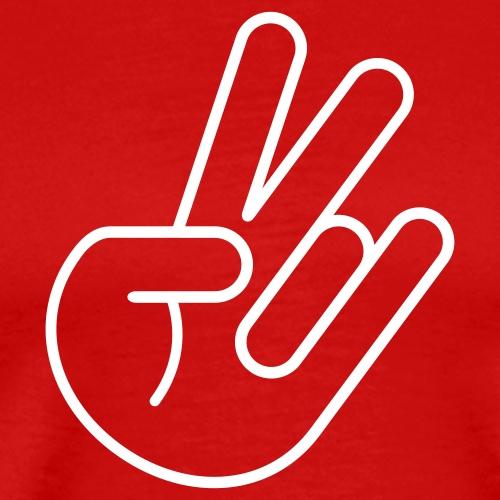 JDM Peace Hand (outline) - Men's Premium T-Shirt