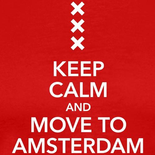 keep calm move to Amsterdam Holland Kreuz Cross - Men's Premium T-Shirt