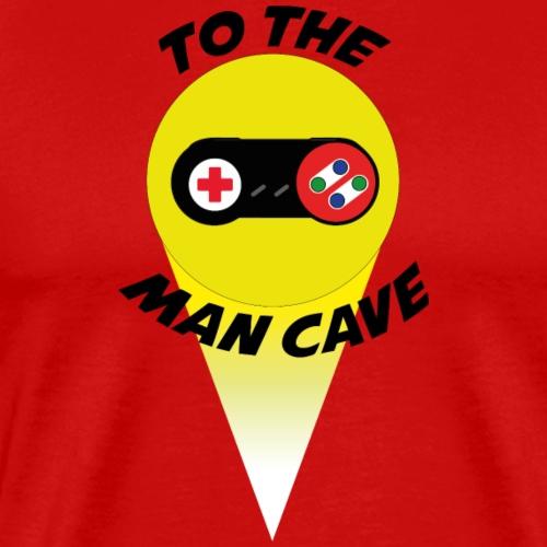To the man cave - Men's Premium T-Shirt