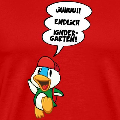 Cartoon Ente endlich Kindergarten DD - Männer Premium T-Shirt
