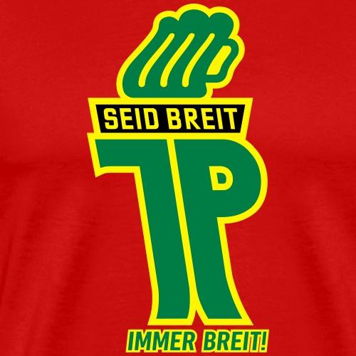 Junge Pioniere mit Bierkrug (Farben veränderbar) - Männer Premium T-Shirt