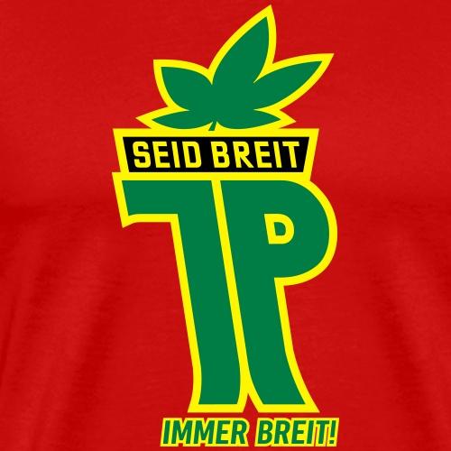 Junge Pioniere mit Hanfblatt (Farben veränderbar) - Männer Premium T-Shirt