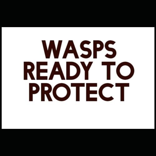 Wasps ready to protect - Premium T-skjorte for menn