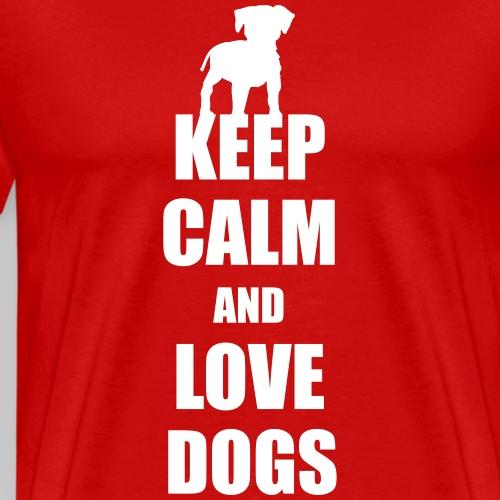 Keep calm love dogs - Männer Premium T-Shirt