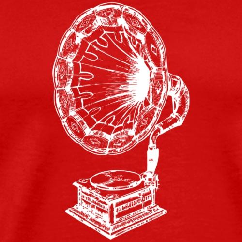 Musica grammofono - Maglietta Premium da uomo