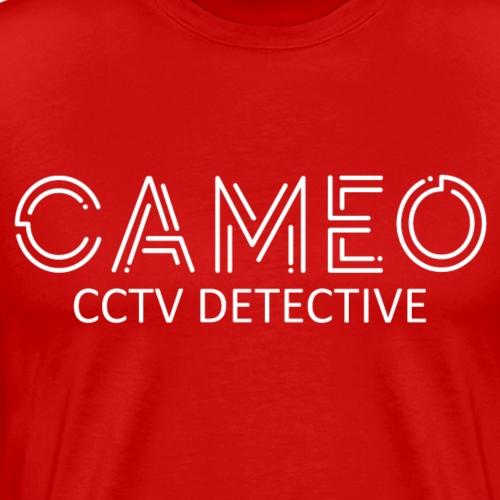 CAMEO: CCTV Detective (White Logo) - Men's Premium T-Shirt