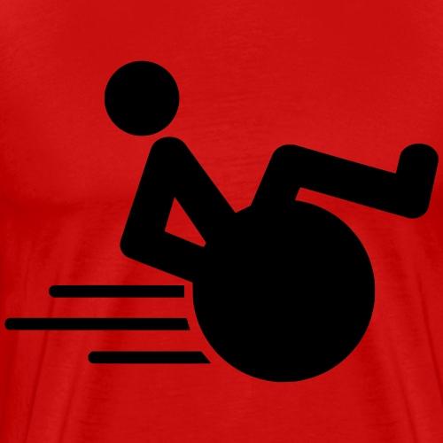 Wheelie1 - Mannen Premium T-shirt